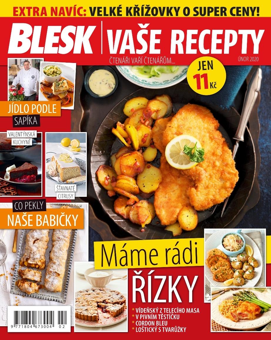 Už máte doma poslední číslo časopisu Blesk Vaše recepty?