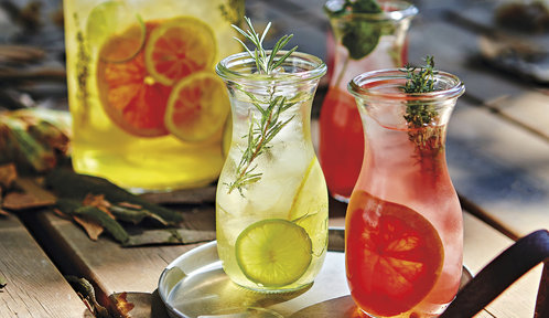 Domácí brusinková limonáda