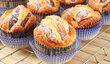 broskvové muffiny jsou šťavnaté