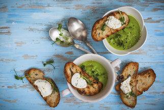 Hrášek, jak ho neznáte. Zkuste krémovou hráškovou polévku nebo italské rizoto