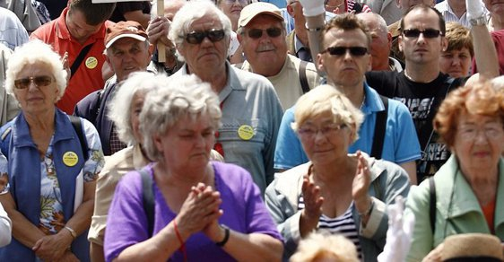 Demonstrace proti Kalouskovi