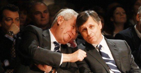 Miloš Zeman a Jan Fischer