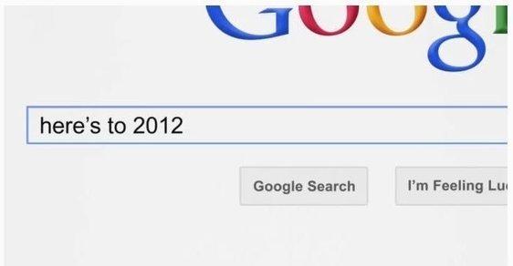 Scénář a režie: Google. Rok 2012 ve třech minutách