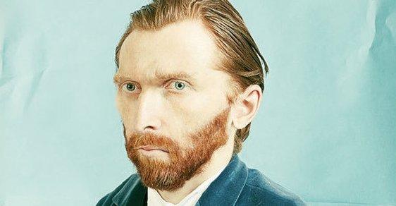 Fotomontáž z autoportrétu Vincenta van Gogha