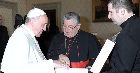 Papež František přijal 14. února ve Vatikánu delegaci českých a moravských biskupů, kterou vede kardinál Dominik Duka