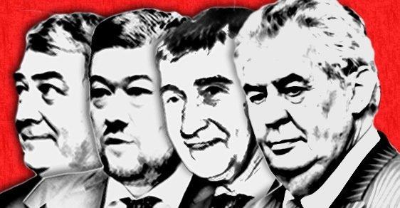 Babiš, Okamura, Filip, Zeman