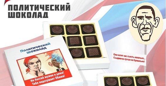 """V Rusku vyrábí """"politickou"""" čokoládu, která je zaměřena proti Západu"""