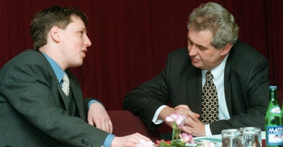 Stanislav Gross a Miloš Zeman v roce 1999.