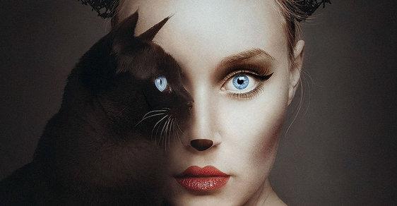 Oko za oko, člověk za zvíře: Fotograf spojil portréty v jednu osobnost