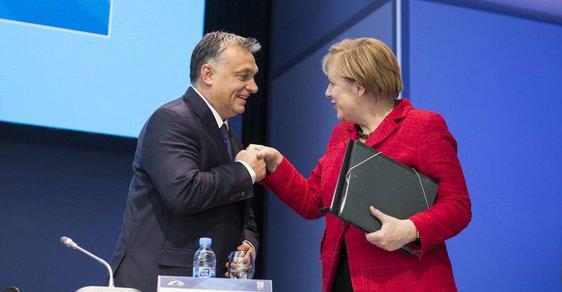 Maďarský premiér Viktor Orbán s německou kancléřkou Angelou Merkelovou