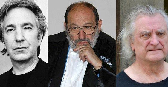Alan Rickman, Umberto Eco, Bořek Šípek
