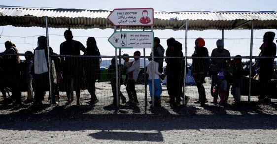 Uprchlíci v řeckém Idomeni