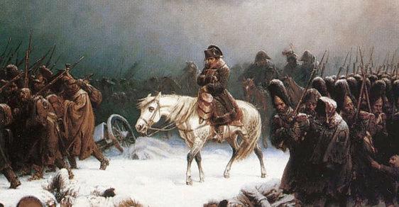 Mír byl podepsán jen pár let před Napoleonovým ruským debaklem (na obrázku)