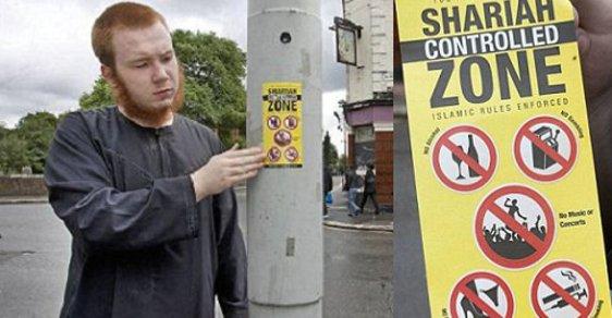"""Extremisté si takto označují v britských městech """"šaría zóny""""."""