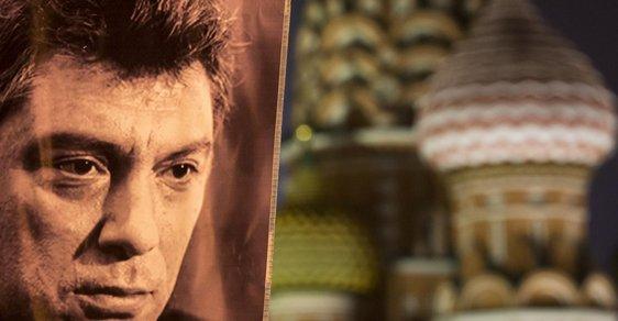 Portrét zavražděného Borise Němcova