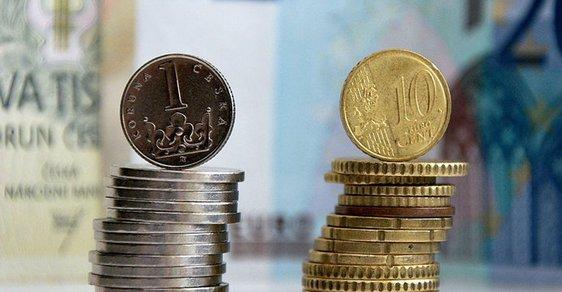 koruna, euro, banky