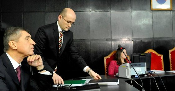 Andrej Babiš v jednací síni Krajského soudu Bratislava I, kde 30. ledna pokračovalo soudní líčení ve věci jeho žaloby proti slovenskému Ústavu paměti národa v souvislosti s archivními svazky, ve kterých je Babiš veden jako agent komunistické Státní bezpečností (StB).