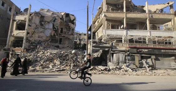 Válka v Sýrii, zničené město Aleppo