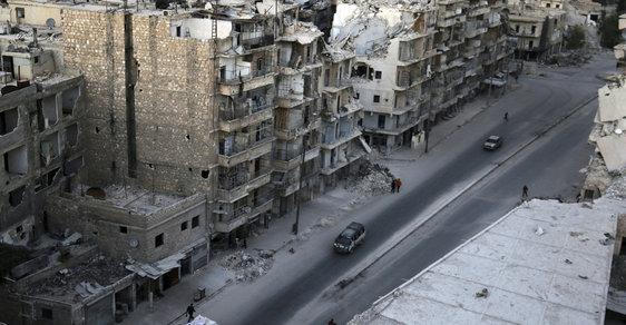 Zničené syrské město Aleppo - ilustrační foto