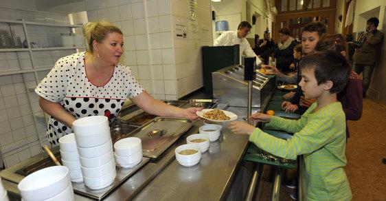 Školní oběd z fondů EU - ilustrační foto