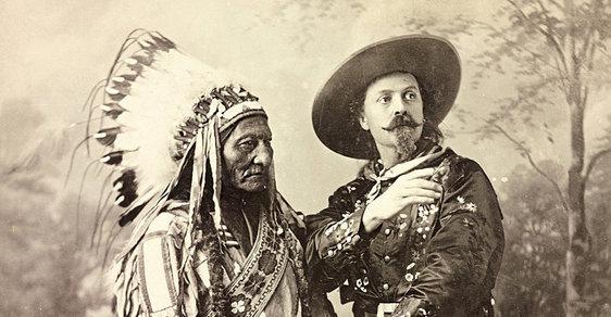 Buffalo Bill Evropanům ukazoval pohádky o Divokém Západě, svou show s Indiány předvedl i českým divákům