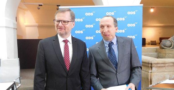 Předseda ODS Petr Fiala a expert ODS na oblast školství Václav Klaus - ilustrační snímek