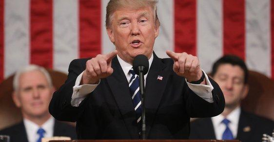 První projev Donalda Trumpa v Kongresu