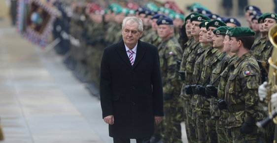 Miloš Zeman při své inauguraci v roce 2013