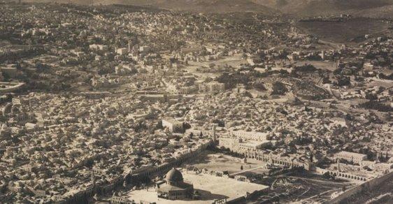 Vzácný nález: Unikátní letecké fotografie Izraele, když ještě neexistoval. Podívejte se