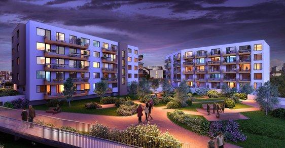 Vizualizace druhé fáze developerského projektu v Modřanech - ilustrační foto