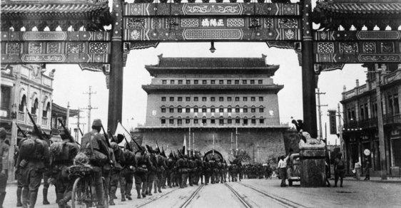Japonští vojáci vstupují v červenci 1937
