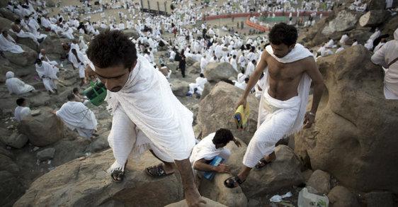 Hadždž: Pouť do Mekky, kterou musí vykonat každý muslim. Průběh připomíná židovské rituály