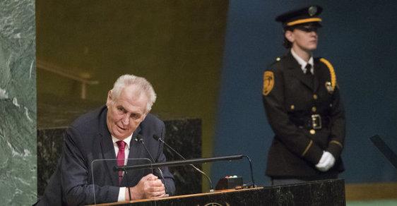 Projevy politiků (včetně Zemana) na Valném shromáždění OSN jsou k ničemu. Vůbec nic neřeší