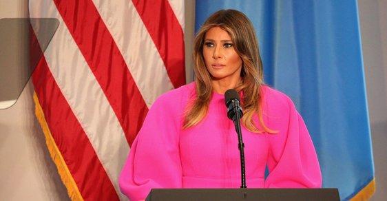 Melanie Trumpová přednesla řeč o kyberšikaně.