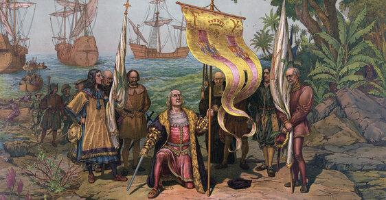 Kryštof Kolumbus v Novém světě.