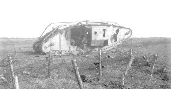 Bitva u Cambrai: Před 100 lety Britové poprvé masově – a úspěšně! – použili tanky