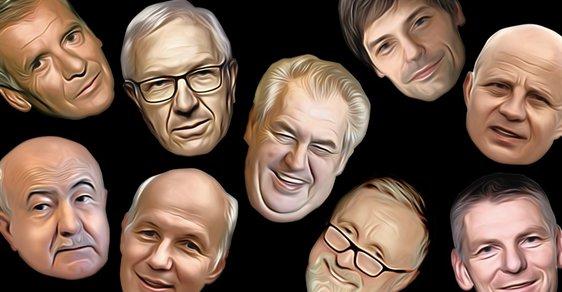 Prezidentští kandidáti: Kulhánek, Hannig, Drahoš, Fischer, Zeman, TOpolánek, Hilšer, Horáček, Hynek