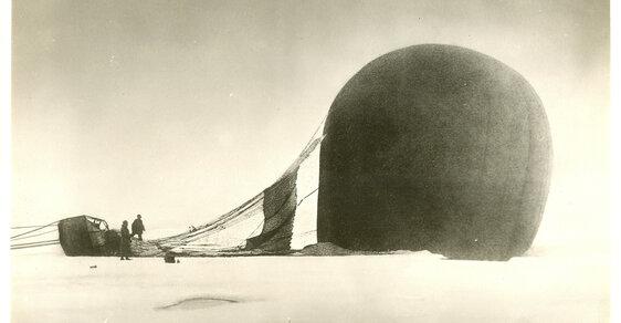 Příběh sebevražedné cesty balonem na severní pól, která skončila v zapomnění
