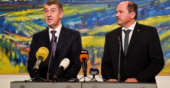 Ministr zemědělství Jiří Milek s premiérem Andrejem Babišem