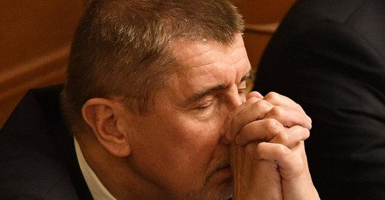 Andrej Babiš a krušné chvíle ve Sněmovně: Před hlasováním o důvěře vládě