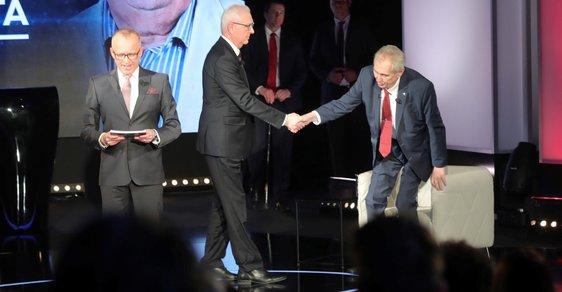 Zeman, Drahoš a Voříšek. Debata prezidentských kandidátů na Primě