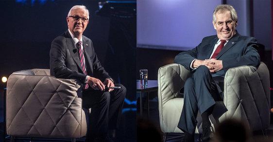 Jiří Drahoš a Miloš Zeman se utkali ve druhém kole přímých prezidentských voleb v lednu 2018.