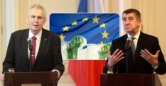 Miloš Zeman ani Andrej Babiš (zatím) eurem v Česku platit nechtějí