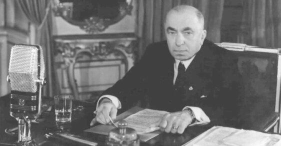 """Emil Hácha se snažil """"v mezích zákona"""" vzdorovat tlaku nacistů."""