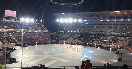 Stadion chvíli před zahájením olympiády v Jižní Koreji