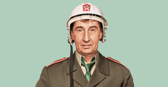 Andrej Babiš na koláži Jana Ignáce Říhy