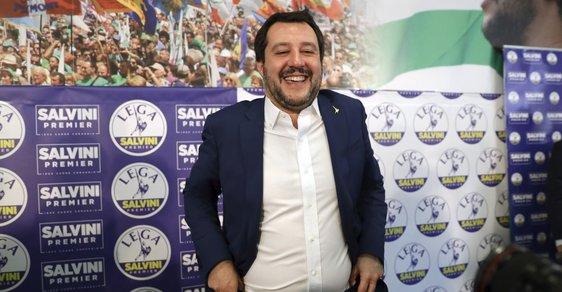 Šéf Ligy severu Matteo Salvini se netají ambicemi stát se příštím italským premiérem. Výsledky voleb mu to mohou umožnit