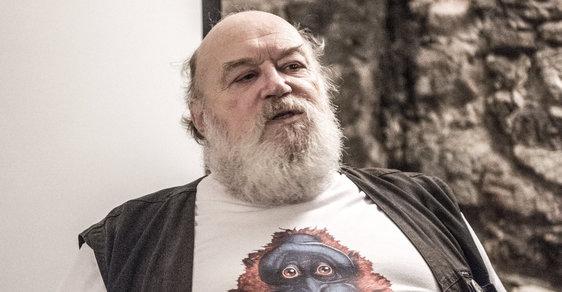 Jan Kantůrek na jednom z posledních veřejných vystoupení v rámci Miniconu pořádaného Klubem Julese Verna v listopadu 2017