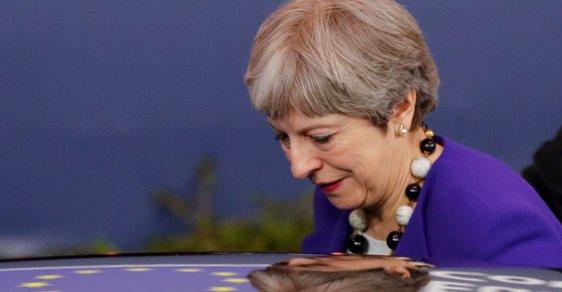 Britská premiér Theresa Mayová na březnovém jednání Evropské rady v Bruselu. Jedním z hlavních témat byla reakce na otravu špiona Sergeje Skripala