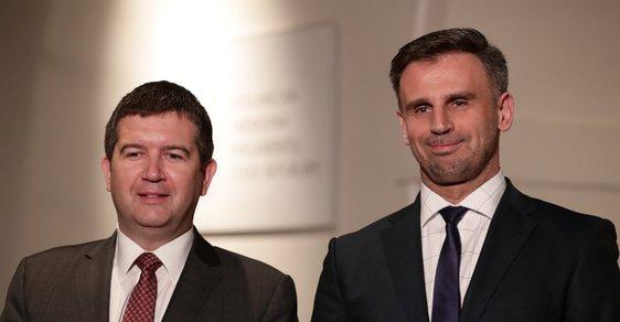 Jan Hamáček a Jiří Zimola